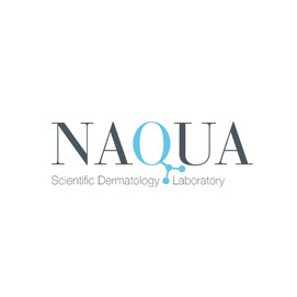 Logotipo de Naqua, Scientific Dermatology Laboratory