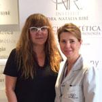 Directora de cine Isabel Coixet junto a la Dra. Natalia Ribé